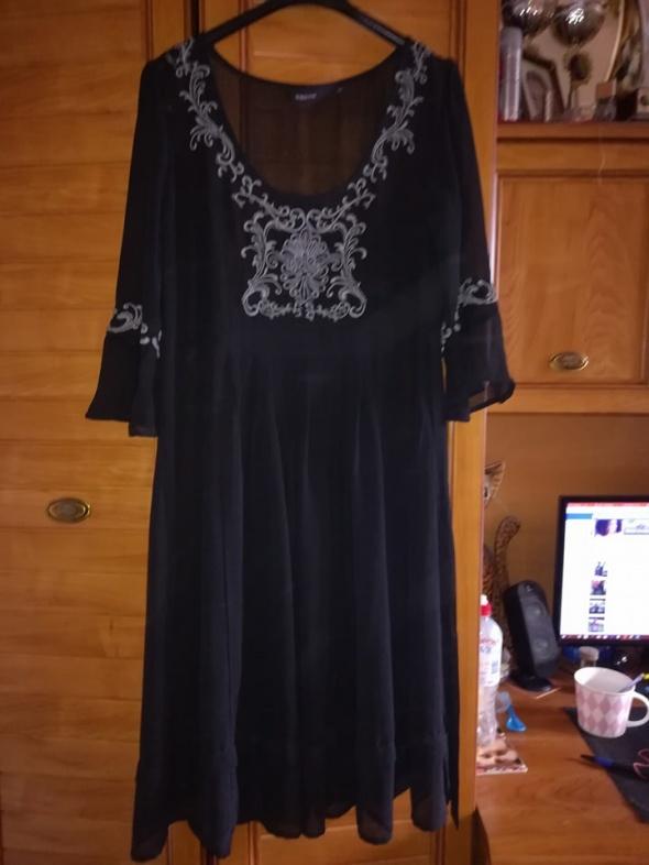 Suknie i sukienki KappAhl śliczna czarna sukienka mgiełka 44