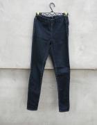 Spodnie na gumkę ciemny jeans H&M