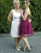 Gorsetowa sukienka w kolorze bordo