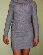 sukienka codzienna szara 38