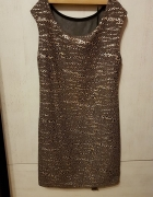 Złota sukienka mini