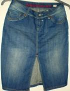 Reporter fajna jeansowa spódnica S...