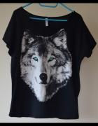 Bluzka z wilkiem Fishbone M oversize
