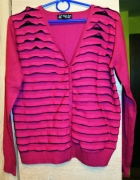 swetr purpurowo fioletowy falbanka rozmiar42