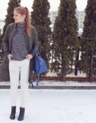 Zima & białe spodnie...