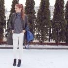 Zima & białe spodnie