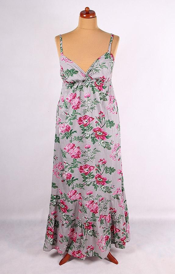 9c7d17892a SZARA MAXI SUKIENKA W KWIATY FLORA VINTAGE 46 48 w Suknie i sukienki ...