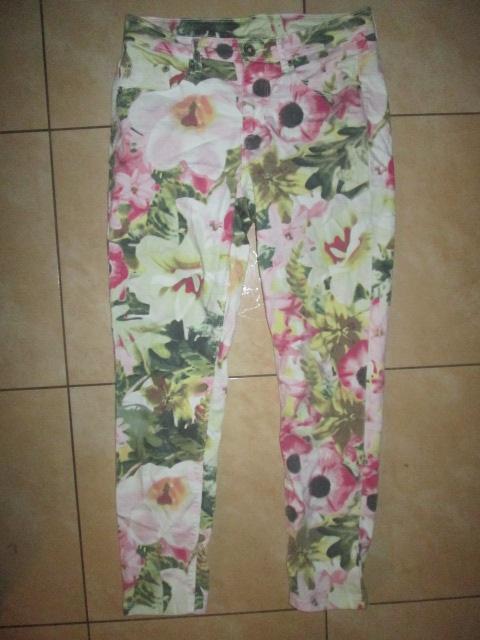 Spodnie Kapp Ahl rozmiar 38 kwiaty floral