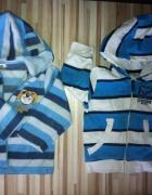2 x bluza w paski polarowa i RESERVED kids 80