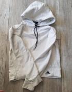 Bluza szara biała Adidas z kapturem...