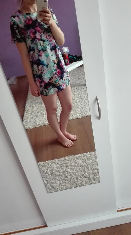 327711693b śliczna sukienka tunika mohito kwiaty xs w Tuniki - Szafa.pl