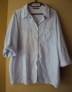 bawełniana koszula w niebieskie paseczki