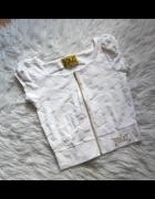 Everlast biała welurowa kamizelka bluza