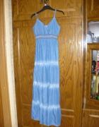 Sukienka długa jeansowa