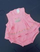 Sukienka Body 56 62 od 0 do 3 miesięcy różowy