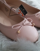 Nowe pudrowe balerinki Primark 37