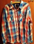 Koszula czerwono niebieska