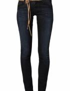 jeansy rurki skiny granatowe Lee Toxey XS S jak nowe...