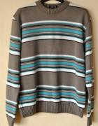 Sweter w paski L