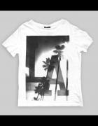 XXL Koszulka biała z nadrukiem LA