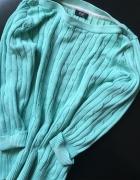 Turkusowy bawełniany sweterek...