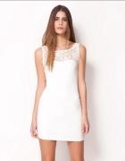 Ołówkowa sukienka pudrowy róż koronka Bershka xs s...