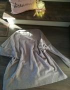 Sukienka sweterkowa nude trapezowa XS S minimalizm...