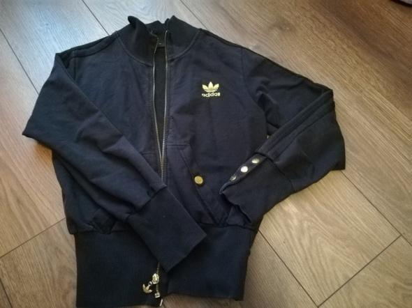 Bluzy Bluza Adidas złoty znaczek złote guziki XS S