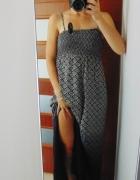 Monsoon maxi ombre sukienka z rozcięciami...