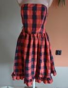 Nowa sukienka w kratę 38 country