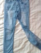 rurki xs wysoki stan przecierane mono jeans