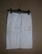 Biala ołówkowa spódnica midi 36 Tiffi...