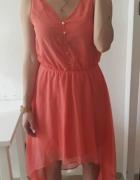 Sukienka zwiewna asymetryczna M