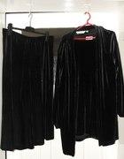 3 częściowy komplet z pluszu czarny