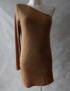 New Look NOWA połysk sukienka na 1 ramię 38 40