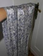 elegancki srebrny szal we wzory