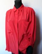 Lejąca koszula krwista czerwień r M L