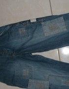 spodnie jeans 98