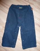 spodnie sztruks 80