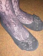 Czarne buciki na małym obcasie