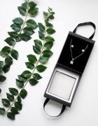 Harrods srebrny naszyjnik kolczyki zestaw 925 srebro stan idealny łańcuszek zawieszka