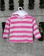 Polarowa Bluza 74 80 na 9 12 m różowa z kapturem