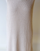 Sukienka Beżowa Beż H&M 2XL 44 Oversize Akryl...