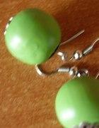 zielone kolczyki