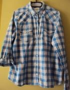 koszula w niebieska krateczkę