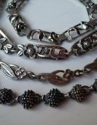 srebrne bransoletki kwiaty jeże niezapominajki