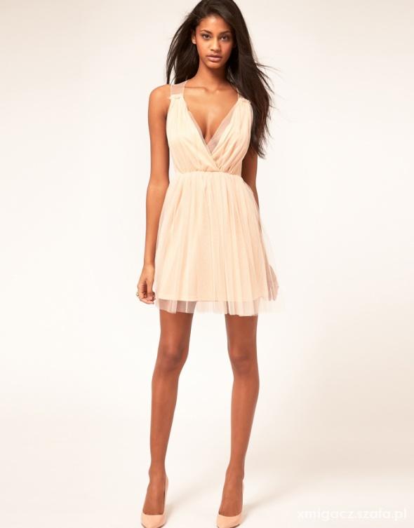 254ff70bef42 Suknie i sukienki asos sukienka pudrowa rozowa mini wesele M S zara