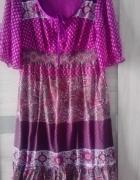 Sukienka fioletowa w stylu boho