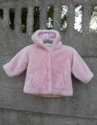 Zimowa Kurtka 86 Miś 18 24m różowa dla dziewczynki