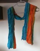Szalik tęczowy kolorowy wiosenny apaszka pozytywny...